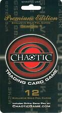CHAOTIC PREMIUM EDITION Season 1 (2 Pack Blister) Exclusive Gold Foil Cards NEW