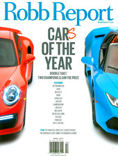 Robb Report April 2017 CARS OF THE YEAR, America's Cup Bermuda, Aston Martin NEW