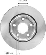 Disc Brake Rotor-SS Front,Rear Bendix PRT5904