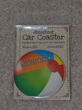 AromaStone Myrtle Beach Beach Ball Absorbent Car Coaster