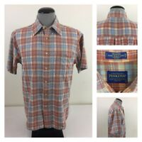 Pendleton Oceanside Mens L L/S Multi-Color Plaid Collared Cotton Flannel Shirt