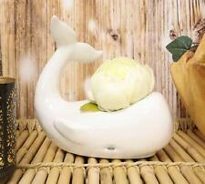 Ceramic White Nautical Sea Marine Cachalot Sperm Whale Planter Pot Decor Statue