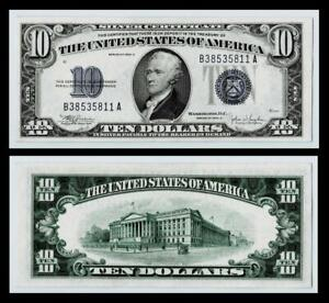 1934-C $10 SILVER CERTIFICATE NOTE~~ UNCIRCULATED