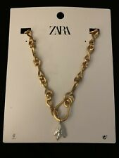 ZARA  NATURAL PEARL SHELL NECKLACE GOLDEN PENDANT M 4736/043 (missing seashell)