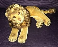 STEIFF  LEO LION  LYING  VINTAGE  MID-CENTURY  MOHAIR  NO TAGS OR BUTTON  CLEAN