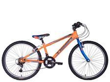 "Tiger Warrior Junior Boys 24"" Wheel 18 Speed MTB Mountain Bike Orange TG2431"