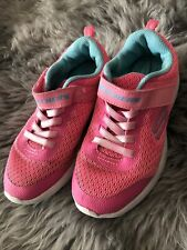 Skechers Girls Trainers Size 13.5 Pink And Green