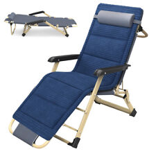New listing Portable Lounge Reclining Folding Camp Chair Dual Purposes Foldable Cots Chaise