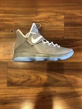 Nike Lebron Xiv Back To The Future Air Mag Matte Silver White Size 9.5