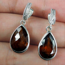 Faceted Carnelian & 925 Sterling Silver Pierce Stud Earrings, IMPERFECT