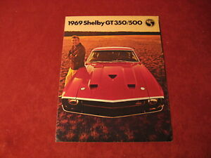 1969 Ford Mustang Shelby GT350/500 Sales Brochure Booklet Book Catalog Original