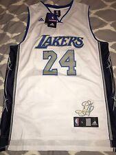 100% Authentic Adidas Kobe Bryant Lakers #24 White & Blue Jersey Large