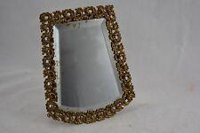 ANTIQUE FRENCH gilt framed easel back travelling bevel mirror 19th century