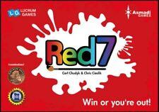 Rojo 7-Estrategia Juego de Cartas - Inglesa Edición