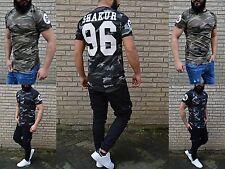 Fashion DJ Musik REBELL CAMOUFLAGE WILD REBELL Shakur PARTY CLUBWEAR T-Shirt