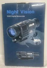 5X40 Digital Night Vision Monocular Camera Video Hd Infrared Ir 1.5 inch Screen