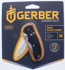 "Gerber Mini Fast Draw Knife Serr Edge 1.9oz 5"" 41525 NR"