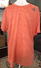 Men's Adidas Running Supernova Orange Heathered S/S Climalite Shirt Large L Mint