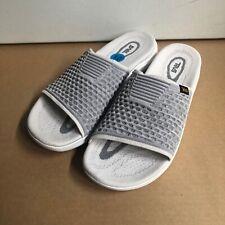 New Teva Terra Float 2 Knit Slides Sandal White/Gray 10
