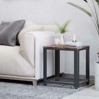 2-Tier End Coffee Table Side Table Nightstand with Storage Shelf for Living Room
