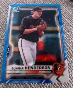 Gunnar Henderson 2021 Bowman Sapphire Prospect Card