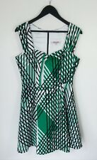 REVIEW // 12 // Green & Black Stripe Sweetheart Neckline Dress