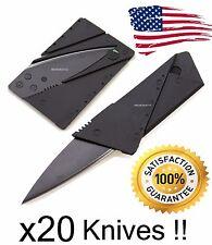 20  Credit Card Bulk Lot Knives Pocket Razor SHARP SAFETY Survival Knife Knifes