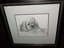 Original  Graphite Drawing of Puppy by Carol Ann Morton - Signed & Dated 7/06