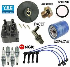 Tune Up Kit Cap Rotor NGK Wires Spark Plug PCV for Honda CRX Si; 1.6L 1988-1991