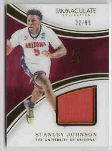 2016-17 Panini Immaculate Collegiate Stanley Johnson Jersey 32/99 Arizona