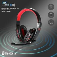 Wireless Bluetooth Gaming Headset Earphone Headphone with Mic For Phone PC F7D7
