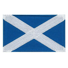 VEGASBEE® SCOTLAND FLAG SCOTTISH ALBA SAINT ANDREW CROSS EMBROIDERED PATCH