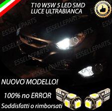 COPPIA LUCI POSIZIONE LED HYUNDAI IX35 T10 W5W BIANCO CANBUS NO ERROR