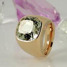 Massiver Ring in 750/- Gelbgold mit 1 großen grünen Beryll ca 28ct - 53 Gramm