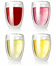 Wine Tumblers 12oz Stemless Glass Wine Glass Set of 4 Sippy Drink Cup
