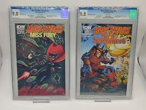 Mars Attacks Popeye & Kiss CGC 9.8 LOT OF 2 Pristine Slab, Combined Shipping!