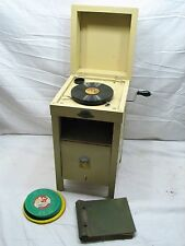 Rare Child's Phonograph Baby Cabinet Toy Record Player General Victrola