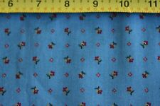 By 1/2 Yd, Red Green Yellow Calico on Country-Blue Quilting, Cranston/VIP, N1674