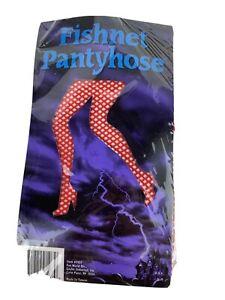 Adult One Size Red Fishnet Panty Hose Stockings Tight Halloween Accessory 816947