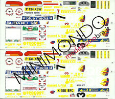 DECALS SUBARU IMPREZA WRX ART RALLY CIOCCO 1997 ERCOLANI MEDEGHINI 1/43 RACING43