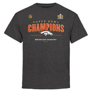 Denver Broncos T Shirt Youth Super Bowl 50 Champions Trophy Collection Locker
