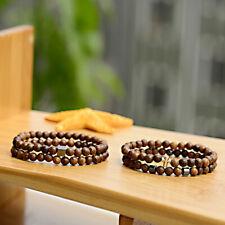 6MM Wood Beads Hematite Cross Geometry Healing Balance Charm Mens Bracelets