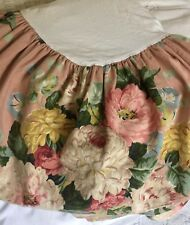 RALPH LAUREN Cynthia KING Bedskirt Floral Roses Very Rare