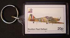 RAF BOULTON PAUL DEFIANT WWII Fighter Aircraft Stamp Keyring