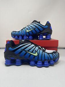 """Nike Shox TL """"Racer Blue' Black Vapor Green AV3595-009 Men's Size 10"""