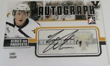 2009-10 In The Game Heroes And Prospects Luke Adam AUTOGRAPHED Vault Hockey Card