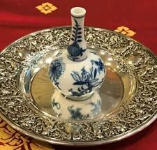 Late 19th Century Meissen Blue Onion Scent/Perfume Bottle w/ Dbl Crossed Swords