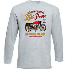 VINTAGE SPANISH MOTORCYCLE BULTACO TRALLA 102 - NEW COTTON T-SHIRT