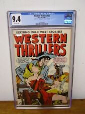 WESTERN THRILLERS #52 CGC 9.4 / 1954 DOUBLE COVER!!! Highest Graded Copy!!