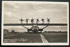 1930 Switzerland RPPC Postcard Cover To Geneva DOX Seaplane Departure